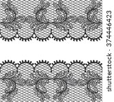 black lace design background ... | Shutterstock . vector #374446423