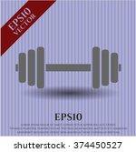 dumbbell vector symbol | Shutterstock .eps vector #374450527