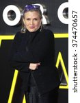 carrie fisher at the european... | Shutterstock . vector #374470657