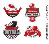 vector set badges logos... | Shutterstock .eps vector #374475997