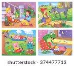 fairy tale. small set of fairy... | Shutterstock . vector #374477713
