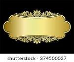 vector vintage border frame... | Shutterstock .eps vector #374500027