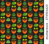 seamless vector pattern with... | Shutterstock .eps vector #374501623