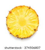 pineapple slice isolated on... | Shutterstock . vector #374506807