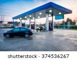 blur image of twilight gas... | Shutterstock . vector #374536267