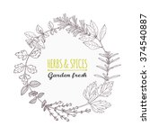 round frame with hand drawn... | Shutterstock .eps vector #374540887
