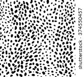 Seamless Black Leopard Skin...