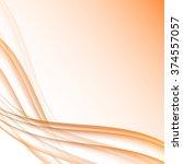 orange and white waves modern... | Shutterstock .eps vector #374557057