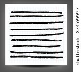 a various set of charcoal lines ... | Shutterstock . vector #374599927