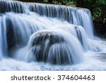 Foggy Landscape Of Cascade At...