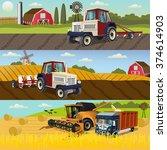 agriculture design concept set... | Shutterstock .eps vector #374614903