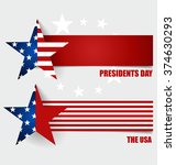 happy presidents day.... | Shutterstock .eps vector #374630293