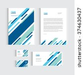 brochure  flyer or report for... | Shutterstock .eps vector #374630437