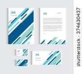brochure  flyer or report for... | Shutterstock .eps vector #374630437
