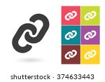 set of link icons. chain... | Shutterstock .eps vector #374633443
