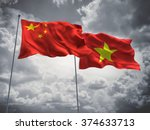 china   vietnam flags are... | Shutterstock . vector #374633713