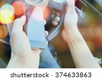 the use of mobile phones in the ...   Shutterstock . vector #374633863