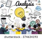 analysis analytics study...   Shutterstock . vector #374634193