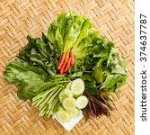 asia vegetable basket | Shutterstock . vector #374637787