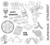jewish holiday passover symbols....   Shutterstock .eps vector #374638507