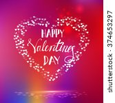 happy valentines day card | Shutterstock .eps vector #374653297