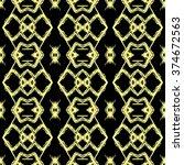 aztec seamless pattern. striped ... | Shutterstock .eps vector #374672563