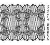 black lace design background ... | Shutterstock . vector #374672737