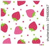 cute seamless vector pattern... | Shutterstock .eps vector #374682067