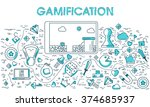 gamification business concept...