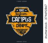 campus sport team emblem....   Shutterstock .eps vector #374692867