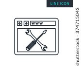 modern thin line icon of web...