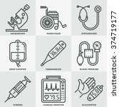 assorted medical devices icon... | Shutterstock .eps vector #374719177