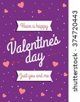 love. happy valentine's day... | Shutterstock .eps vector #374720443