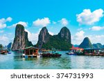 floating fishing village in... | Shutterstock . vector #374731993