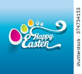 vector happy easter... | Shutterstock .eps vector #374734153