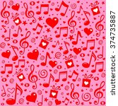 happy st. valentine's day  pink ... | Shutterstock . vector #374735887