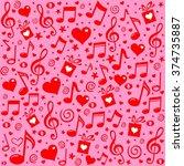 happy st. valentine's day  pink ... | Shutterstock . vector #374735887