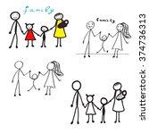 vector  happy family   Shutterstock .eps vector #374736313