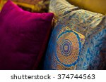 indian colored pillows | Shutterstock . vector #374744563