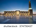 doha grand mosque early dusk ... | Shutterstock . vector #374750437