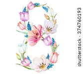 Watercolor Wreath March 8  The...