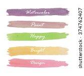 light violet green yellow pink... | Shutterstock .eps vector #374762407