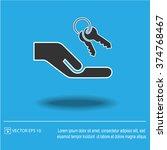 keys hand vector icon.   Shutterstock .eps vector #374768467