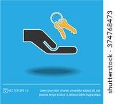 keys hand vector icon.   Shutterstock .eps vector #374768473