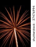 yellowish burst of fireworks... | Shutterstock . vector #37476994