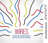 abstract colorful wire... | Shutterstock .eps vector #374773777