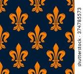 Orange And Blue Vintage Floral...