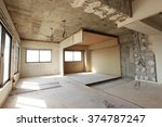 being renovated house | Shutterstock . vector #374787247