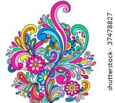 Psychedelic Abstract Paisley...