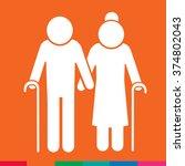 elder people icon illustration... | Shutterstock .eps vector #374802043